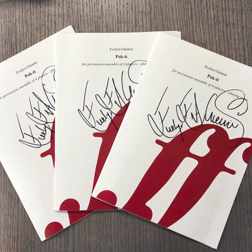 Evelyn Glennie Pok It Printed Music (Signed)