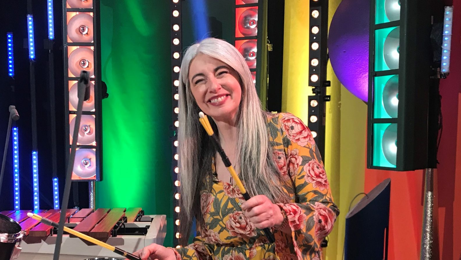 Evelyn Glennie performing for BBC Bring The Noise Campaign